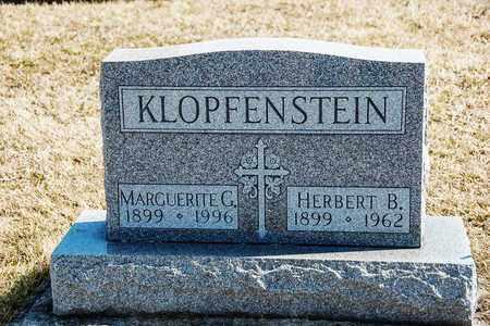 KLOPFENSTEIN, HERBERT B - Richland County, Ohio | HERBERT B KLOPFENSTEIN - Ohio Gravestone Photos