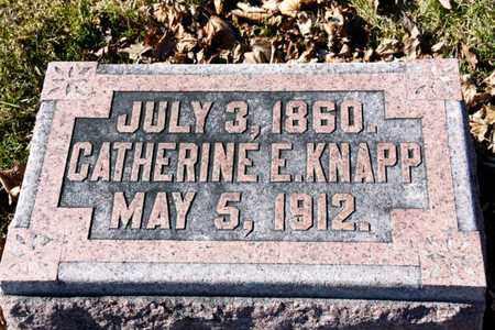 KNAPP, CATHERINE E - Richland County, Ohio | CATHERINE E KNAPP - Ohio Gravestone Photos
