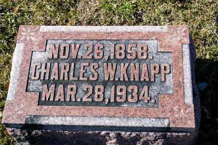 KNAPP, CHARLES W - Richland County, Ohio | CHARLES W KNAPP - Ohio Gravestone Photos