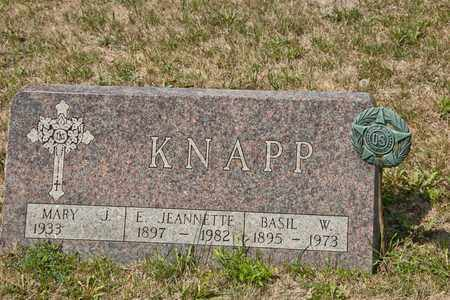 KNAPP, BASIL W - Richland County, Ohio | BASIL W KNAPP - Ohio Gravestone Photos