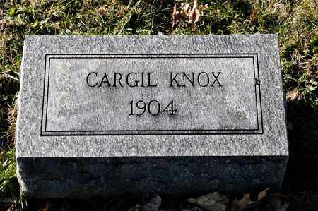 KNOX, CARGIL - Richland County, Ohio   CARGIL KNOX - Ohio Gravestone Photos