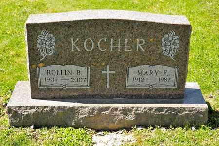 KOCHER, MARY F - Richland County, Ohio | MARY F KOCHER - Ohio Gravestone Photos