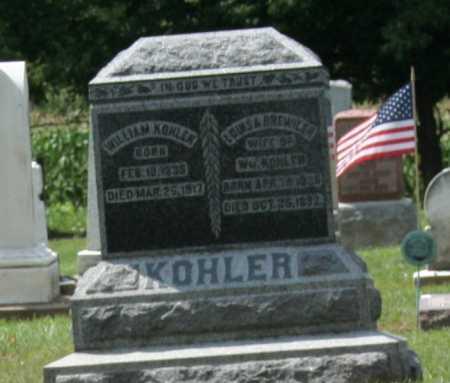 KOEHLER, WILLIAM - Richland County, Ohio   WILLIAM KOEHLER - Ohio Gravestone Photos