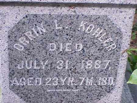 KOHLER, ORRIN L. - Richland County, Ohio | ORRIN L. KOHLER - Ohio Gravestone Photos