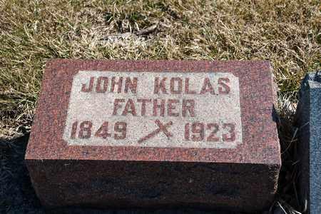 KOLAS, JOHN - Richland County, Ohio | JOHN KOLAS - Ohio Gravestone Photos