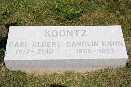 KOONTZ, CAROLIN KUHN - Richland County, Ohio   CAROLIN KUHN KOONTZ - Ohio Gravestone Photos