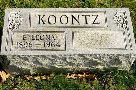 KOONTZ, E LEONA - Richland County, Ohio   E LEONA KOONTZ - Ohio Gravestone Photos