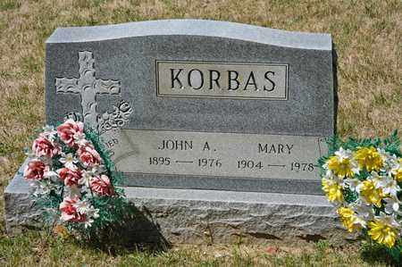 KORBAS, MARY - Richland County, Ohio | MARY KORBAS - Ohio Gravestone Photos