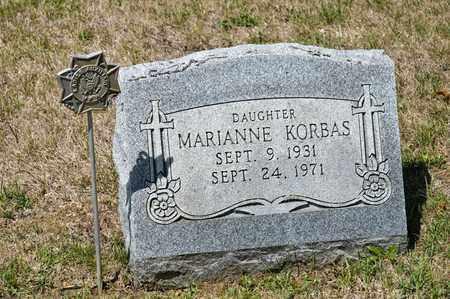 KORBAS, MARIANNE - Richland County, Ohio | MARIANNE KORBAS - Ohio Gravestone Photos