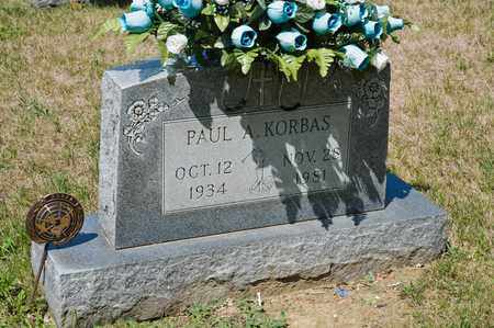 KORBAS, PAUL A - Richland County, Ohio | PAUL A KORBAS - Ohio Gravestone Photos