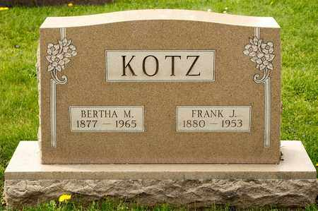 KOTZ, BERTHA M - Richland County, Ohio | BERTHA M KOTZ - Ohio Gravestone Photos
