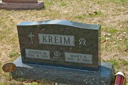 KREIM, MARY A - Richland County, Ohio | MARY A KREIM - Ohio Gravestone Photos