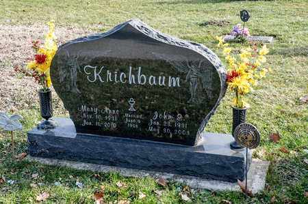 KRICHBAUM, JOHN E - Richland County, Ohio | JOHN E KRICHBAUM - Ohio Gravestone Photos