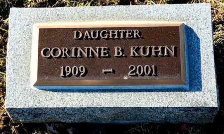 KUHN, CORINNE B - Richland County, Ohio | CORINNE B KUHN - Ohio Gravestone Photos