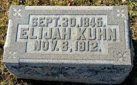 KUHN, ELIJAH - Richland County, Ohio   ELIJAH KUHN - Ohio Gravestone Photos