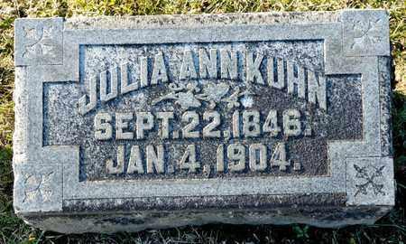 KUHN, JULIA ANN - Richland County, Ohio   JULIA ANN KUHN - Ohio Gravestone Photos
