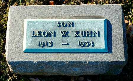 KUHN, LEON W - Richland County, Ohio | LEON W KUHN - Ohio Gravestone Photos
