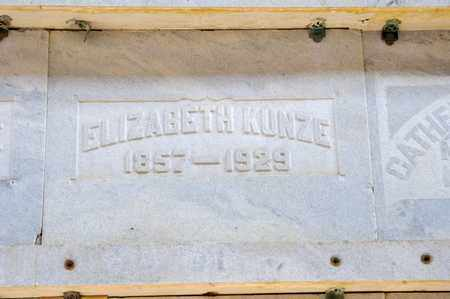 KUNZE, ELIZABETH - Richland County, Ohio | ELIZABETH KUNZE - Ohio Gravestone Photos