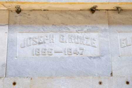 KUNZE, JOSEPH G - Richland County, Ohio   JOSEPH G KUNZE - Ohio Gravestone Photos