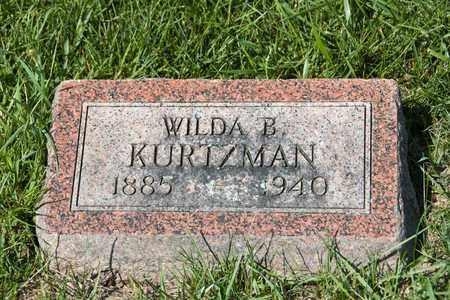KURTZMAN, WILDA B - Richland County, Ohio   WILDA B KURTZMAN - Ohio Gravestone Photos