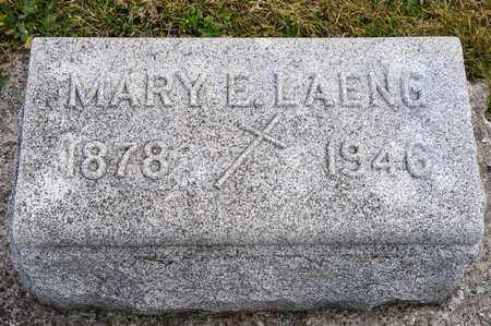 LAENG, MARY E - Richland County, Ohio | MARY E LAENG - Ohio Gravestone Photos