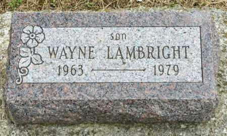 LAMBRIGHT, WAYNE - Richland County, Ohio | WAYNE LAMBRIGHT - Ohio Gravestone Photos