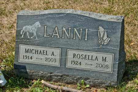 LANNI, MICHAEL A - Richland County, Ohio | MICHAEL A LANNI - Ohio Gravestone Photos