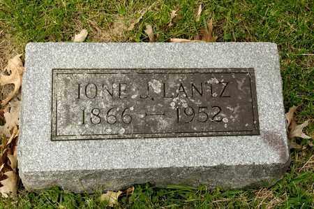 LANTZ, IONE J - Richland County, Ohio | IONE J LANTZ - Ohio Gravestone Photos
