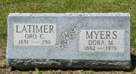 LATIMER, ORO C - Richland County, Ohio | ORO C LATIMER - Ohio Gravestone Photos