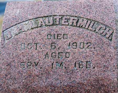 LAUTERMILCH, L H - Richland County, Ohio | L H LAUTERMILCH - Ohio Gravestone Photos