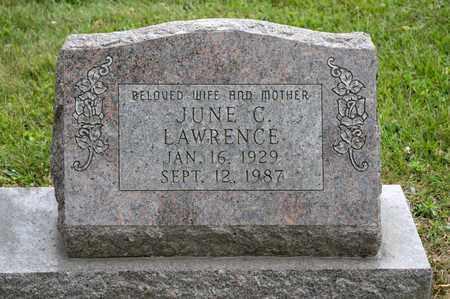LAWRENCE, JUNE C - Richland County, Ohio   JUNE C LAWRENCE - Ohio Gravestone Photos