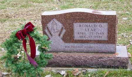 LEAR, RONALD D - Richland County, Ohio | RONALD D LEAR - Ohio Gravestone Photos