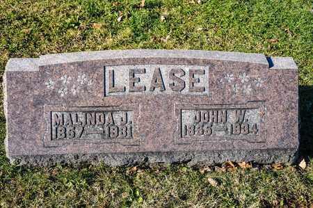 LEASE, JOHN W - Richland County, Ohio   JOHN W LEASE - Ohio Gravestone Photos