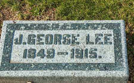 LEE, J GEORGE - Richland County, Ohio   J GEORGE LEE - Ohio Gravestone Photos