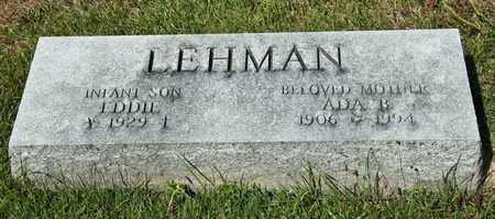LEHMAN, EDDIE - Richland County, Ohio | EDDIE LEHMAN - Ohio Gravestone Photos