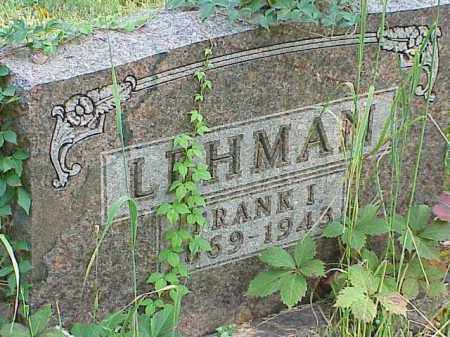 LEHMAN, FRANK I. - Richland County, Ohio | FRANK I. LEHMAN - Ohio Gravestone Photos