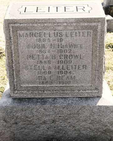 LEITER CROWL, RETTA B - Richland County, Ohio | RETTA B LEITER CROWL - Ohio Gravestone Photos