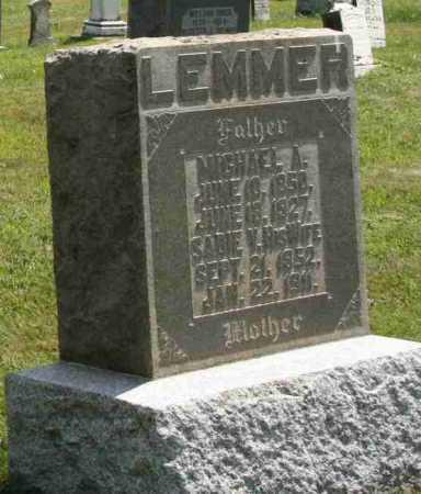 LEMMEN, SADIE V - Richland County, Ohio   SADIE V LEMMEN - Ohio Gravestone Photos