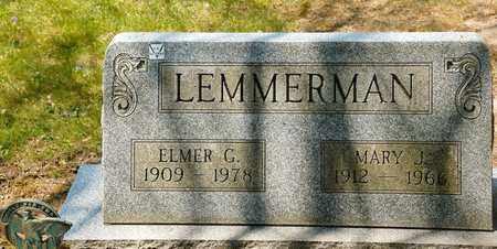 LEMMERMAN, ELMER G - Richland County, Ohio | ELMER G LEMMERMAN - Ohio Gravestone Photos
