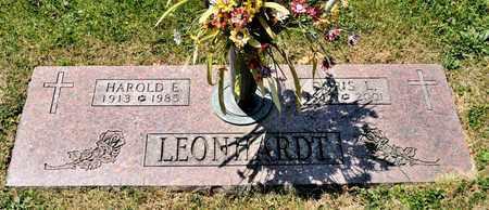 LEONHARDT, HAROLD E - Richland County, Ohio | HAROLD E LEONHARDT - Ohio Gravestone Photos