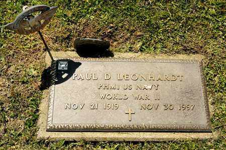 LEONHARDT, PAUL D - Richland County, Ohio | PAUL D LEONHARDT - Ohio Gravestone Photos