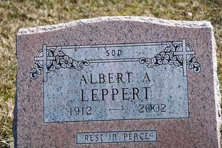 LEPPERT, ALBERT A - Richland County, Ohio | ALBERT A LEPPERT - Ohio Gravestone Photos