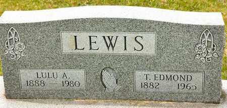 LEWIS, T EDMOND - Richland County, Ohio | T EDMOND LEWIS - Ohio Gravestone Photos
