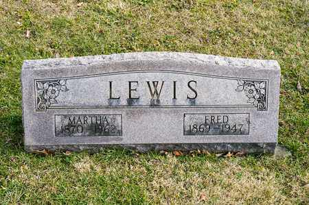 LEWIS, MARTHA - Richland County, Ohio | MARTHA LEWIS - Ohio Gravestone Photos