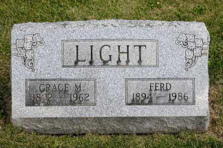 LIGHT, FERD - Richland County, Ohio | FERD LIGHT - Ohio Gravestone Photos
