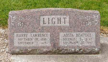 LIGHT, AOSTA BEATRICE - Richland County, Ohio | AOSTA BEATRICE LIGHT - Ohio Gravestone Photos