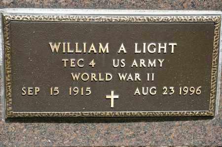 LIGHT, WILLIAM A - Richland County, Ohio | WILLIAM A LIGHT - Ohio Gravestone Photos
