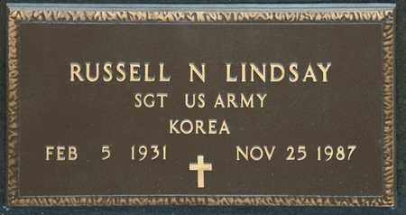 LINDSAY, RUSSELL N - Richland County, Ohio   RUSSELL N LINDSAY - Ohio Gravestone Photos