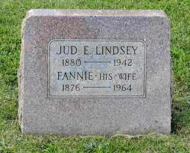 LINDSEY, JUD E - Richland County, Ohio | JUD E LINDSEY - Ohio Gravestone Photos