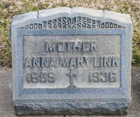 LINK, ANNA MARY - Richland County, Ohio   ANNA MARY LINK - Ohio Gravestone Photos